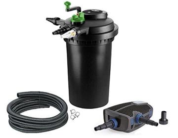 Aqua-Tech Teichfilter Set 15000 Druckfilter UV Pumpe OASE AquaMax Eco 6000 -