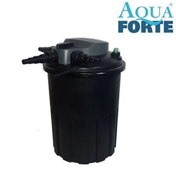 AquaForte Druckfilter BF15000 inkl. 24W UVC, max. Teichgröße 15m³, max. Durchfluss 8m³/h -