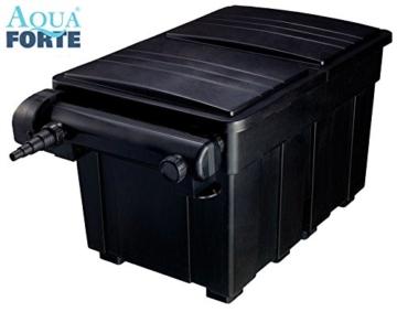 AquaForte Mehrkammerfilter 25000 inkl. 36W UVC, max. Teichgröße 25m³, max. Durchfluss 10m³/h -