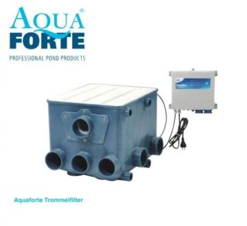 AquaForte Trommelfilter inklusiv weißem Deckel und Kontroller, Kunststoff, blau, 50.0 x 70.0 x 43.0 cm -