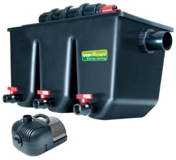 T.I.P. Mehrkammer-Teichaußenfilter PTS 40000 UV, UV-C 25 Watt, für Teiche bis zu 40.000 Liter -