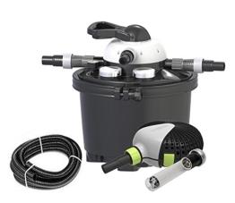 Velda 126311 Druckfilter Komplettset für Teiche bis 10.000 Liter inkl. Pumpe, 9 Watt UV-C, Clear Control Set -