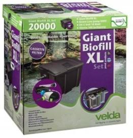 Velda 126406 Durchflussfilter für Teich bis 20.000 Liter inkl. Pumpe, 18 Watt UV-C, Giant Biofill XL Set 6000 -
