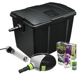 Velda 126408 Durchflussfilter für Teich bis 60.000 Liter inkl. Pumpe, 2x36 Watt UV-C, Giant Biofill XL Set 15000 -