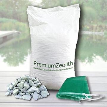 25 kg ZEOLITH 8-16 mm +2 Filtersäcke Filtermaterial Teichfilter Aquarium Gartenteich Filtermedium Filter Phosphatbinder Zeoliet Celolit Zelolit Zeolite baumgrün - 2