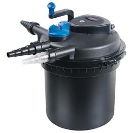 AKWADO Druckfilter CPF-5000 inkl. 11 Watt UVC Klärer für Gartenteiche, Fisch- und Koiteiche -