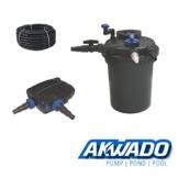 AKWADO Druckfilter-Set CPF-10000 inkl. 11 W UVC Klärer und Teichpumpe 5000 l/h für Teich Koi usw. -