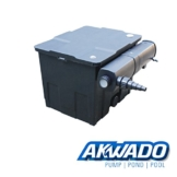 AKWADO Durchlauffilter 12000l mit 24 Watt UVC Klärer -