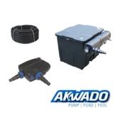 AKWADO Durchlauffilter 12000l mit 24 Watt UVC Klärer + Teichpumpe CTF-7000 + Schlauch -