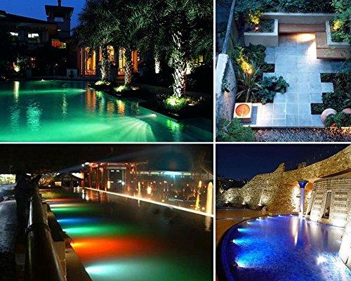 COOLWEST RGB LED Unterwasserscheinwerfer Dekorative Garten Schwimmbad Teich Licht/Nacht Schalt,230V / 10W,mit Wireless IR Fernbedienung - 6