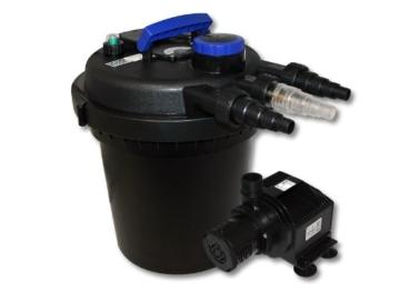 Druckfilter Set 6000l 11W UVC Teichklärer 65W Teichpumpe -