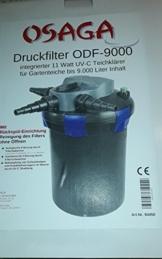 OSAGA Druckfilter ODF-9000 mit 11 Watt UVC Lampe mit Rückspüleinrichtung -