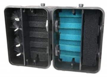 OSAGA Kompakt-Teichfilter 4 Kammer System mit UVC 18 Watt Klärgerät, OTF 16001 incl. Filtermaterial -