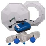 OSAGA Teich Eisfreihalter Set 4 inkl. regelbarer Luftpumpe und Zubehör, für einen eisfreien Gartenteich, Anti Ice Winter - 1