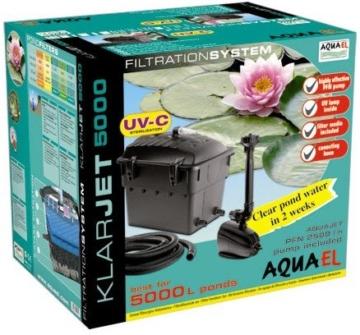 Teichfilterset Klarjet 10000 l - Komplettset inkl. UV-Licht und Pumpe -