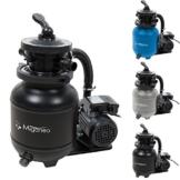 Miganeo 40385 Sandfilteranlage Dynamic 6500 Pumpleistung 4,5m³ blau, grau, schwarz, für Pool Schwimmbecken (Schwarz) - 1
